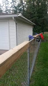 Add A Neighbor Shelf To Your Chain Link Fence Share Morning Coffee Drink After Mowing The Lawn Whatever Assumin Backyard Fences Chain Link Fence Backyard