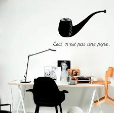 Wall Decal Rene Magritte Ceci N Est Pas Une Pipe Treachery Etsy