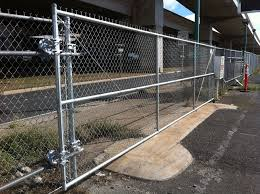 Chain Link Roll Gate Driveway 2 Allied Security Fence
