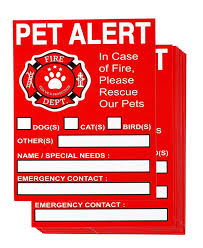 1lots Juvale Pet Rescue Stickers Pet Emergency Stickers In Case Of Fire Alerts Pet Inside Finder Window Decal 5 X 4 Inches Stickers Aliexpress