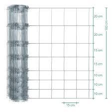 50m Voss Farming Premium Plus Stock Game Fencing Galvanised Height 100cm 8 100 15