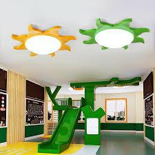 Liheng Sun Shape Led Ceiling Light Flush Mount Lamp Lighting Baby Kids Child Bedroom