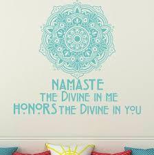 Decal House Namaste Mandala Decor Wall Decal Wayfair