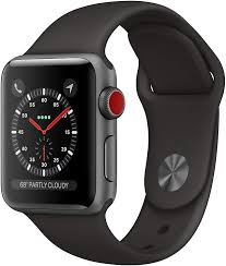 Amazon.com: Apple Watch Series 3 (GPS + Cellular, 38mm) - Silver Aluminum  Case with White Sport Band