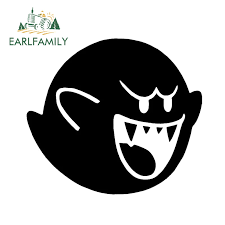Earlfamily 13cm X 11 5cm Mario Brothers Boo Vinyl Decal Car Truck Window Bumper Car Sticker Nintendo Game Jdm Ghost Black Silver Car Stickers Aliexpress