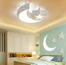 Baby Acrylic Star Moon Ceiling Light Fixture Kids Room Lamp Led Bedroom Light For Sale Online