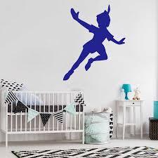 Peter Pan Wall Decal Nursery Vinyl Wall Stickers For Kids Room Cartoon Art Sticker Boys Room Girls Room Cute Decor Mural S439 Sticker For Kids Room Vinyl Wall Stickerswall Stickers For Kids Aliexpress