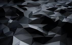 black 3d polygons dark pattern ultra hd
