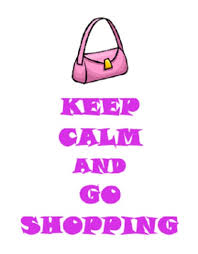 Second Life Marketplace Q Essentials Keep Calm And Go Shopping Wall Decal