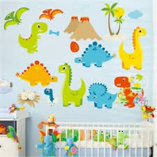Cartoon Dinosaur Wall Stickers For Kids Room Home Decor Nursery Wall Decals 804035484459 Ebay