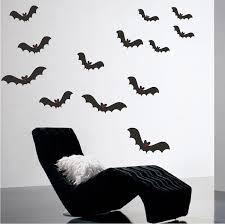 Halloween Bats Wall Decal Removable Holiday Scary Decorations Bat Wall American Wall Designs