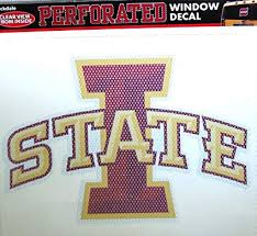 Amazon Com Iowa State Cyclones Sd Medium 8 Perforated Auto Window Film Decal University Of Sports Outdoors