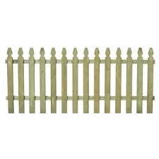 French Gothic Wood Fence Panels Wood Fencing The Home Depot