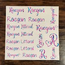 Name Decal Sheet Name Labels Name Sticker Pack Name Bundle Decal Sheets Name Stickers Custom Stickers