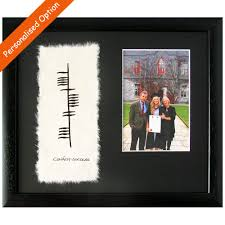 ogham graduation photo frame totally