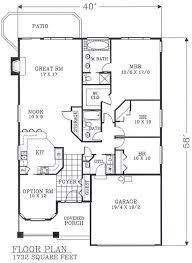 plan 46106 narrow lot house plans