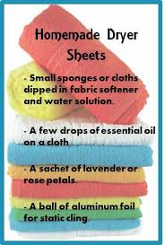 homemade dryer sheets 7 great ideas