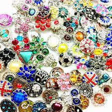 mix many styles 18mm metal