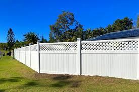 Lattice Top Vinyl Privacy Wood Fence Queensland Fencing Specialists