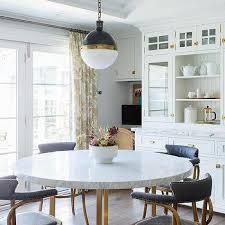 keanu round black wood dining table