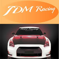Jdm Racing Decal Windshield Banner Topchoicedecals