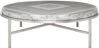 round marble stainless coffee table