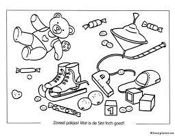 Cadeautjes Pakjes En Speelgoed Van De Sint Kleurplaat