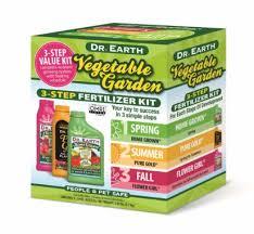 vegetable garden 3 step fertilizer kit