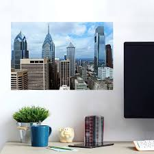 Philadelphia In The Building Downtown Cloudy Wall Decals Peel Stick Re Movable Wall Art Zapwalls