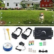Electric Dog Fence Kit Waterproof Training Dog Collar Electronic Remote Shock Dog Collar Pet Fence Containment System For 2 Dogs Fence System Electric Fencing Systemdog Electric Fencing System Aliexpress