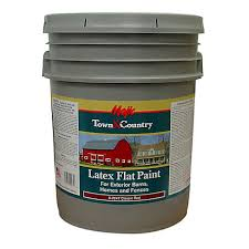 Majic Town Country Latex Flat Paint 5 Gal Classic Red At Tractor Supply Co