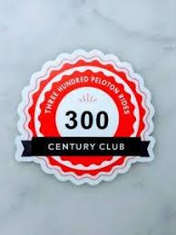 300 Peloton Rides Century Club Sticker Ebay