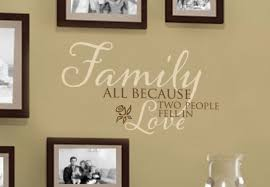 Family All Because Two People Fell In Love Wall Decal Standard Version 37 35