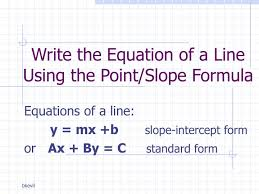 point slope formula powerpoint