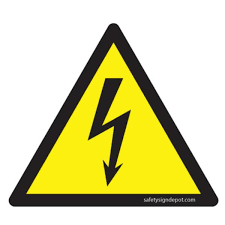 Promodor 4 In Triangular Decal Vinyl High Voltage Symbol Yellow Sticker Pse 0030 The Home Depot