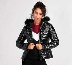 womens monica quilted jacket black