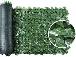 Amazon Com Sekkvy 39 X 118 Artificial Hedges Faux Ivy Privacy Fence Screen Peach Leaves Panels With Mesh Backing Vine Decoration For Outdoor Decor Garden Yard Garden Outdoor