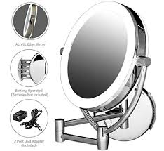ovente wall mounted makeup mirror 7 5