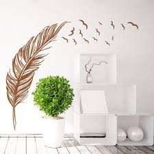 Wall Sticker Birds Feather Decorated Home