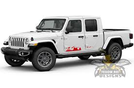 Mountains Side Graphics Decals For Jeep Gladiator Stickers 2020