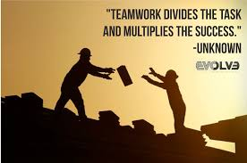 teamwork divides the task and multiplies the success unknown