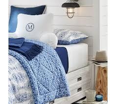 dessi printed comforter shams blue