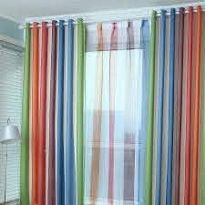 Custom Multi Color Polyester Cotton Blackout Striped Curtains