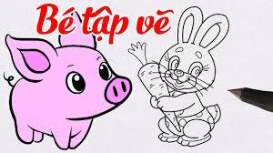 Vẽ Con Thỏ, Con Lợn Dễ Dàng - Hướng Dẫn Vẽ Con Vật Đơn Giản Cho Bé ...
