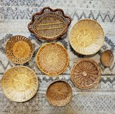 vintage modern wicker baskets boho