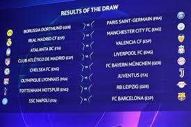 Calendario ottavi Champions League 2020: date, programma, orari e tv – OA  Sport