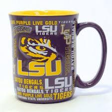 lsu tigers spirit coffee mug 17 oz