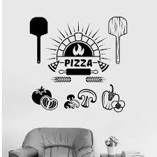 Pizza Sign Window Sticker Kitchen Vinyl Wall Decal Pizza Italian Restaurant Cooking Stickers Art Mural Store Logo M180 Wall Stickers Aliexpress