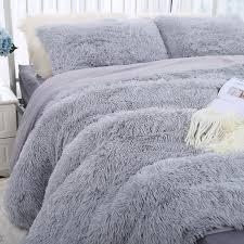 luxurious plush faux fur bedding sets