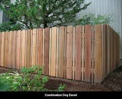 Combination Dog Ear Fence Seems Appropriate To Hold In Two Big Dogs Dog Ear Fence Fence Design Garden Gates And Fencing